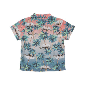 Paper Wings - Short Sleeve Shirt - Jungle Rhino Sunset