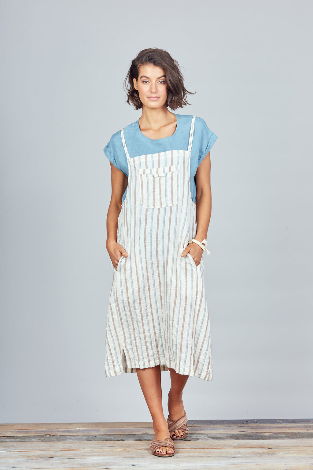Brave + True - Yonder Pinafore - Percival Stripe