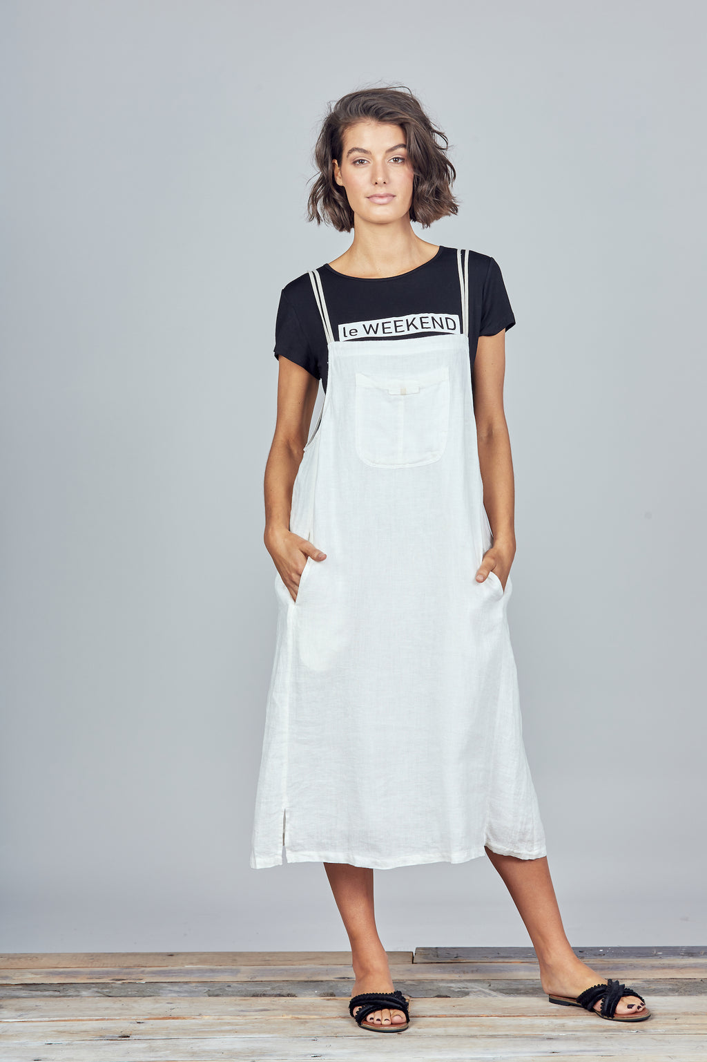 Brave + True - Yonder Pinafore - White