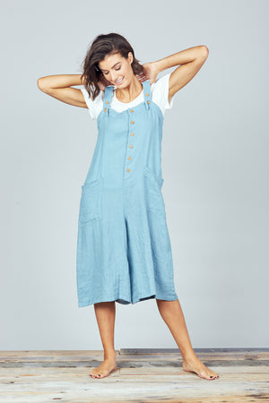 Brave + True - Musings Overalls - River Blue