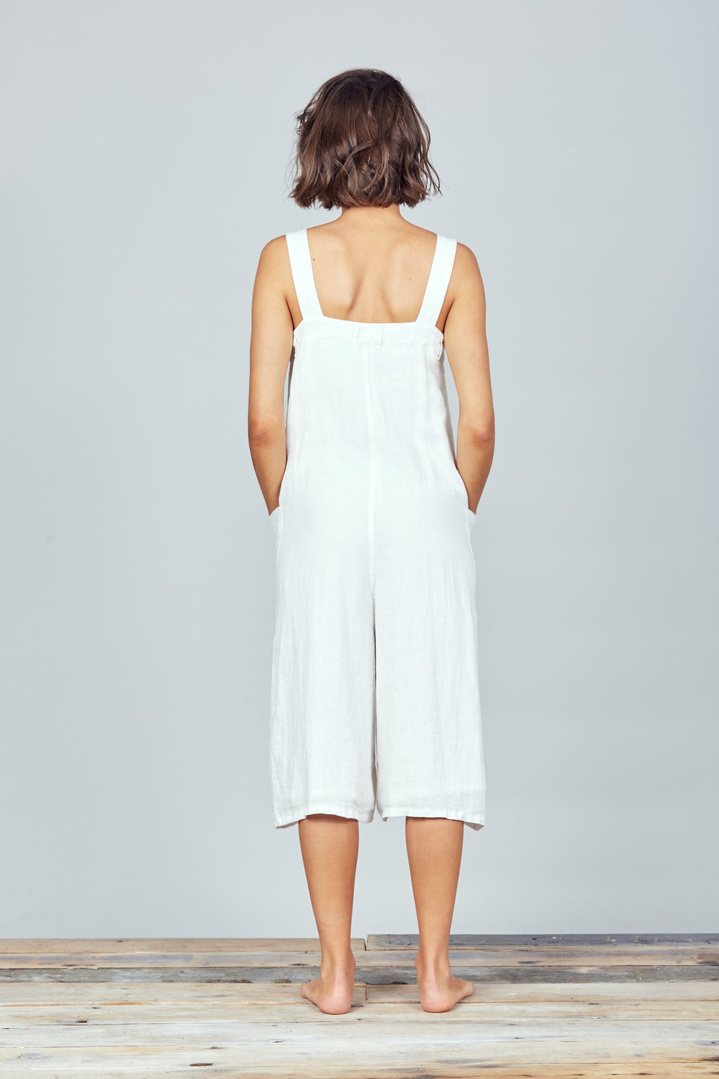 Brave + True - Musings Overalls - White