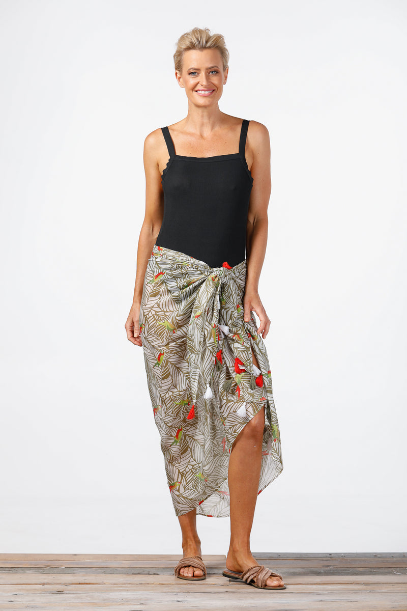 Holiday - Parrot Scarf-Sarong