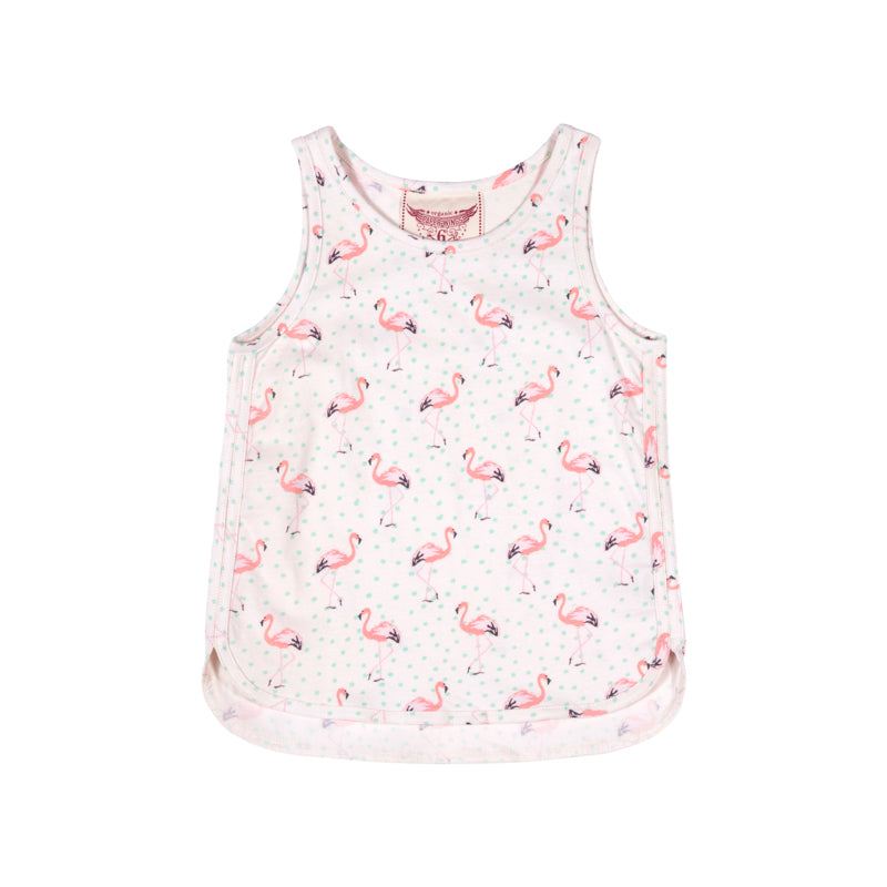 Paper Wings - Singlet with Binding - Flamingos