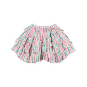 Paper Wings - Frilled Skirt - Vertical Texta Strip