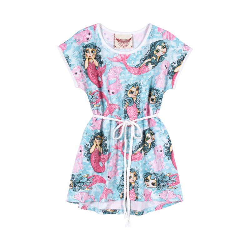 Paper Wings - T-Shirt Dress - Mermaids Reboot