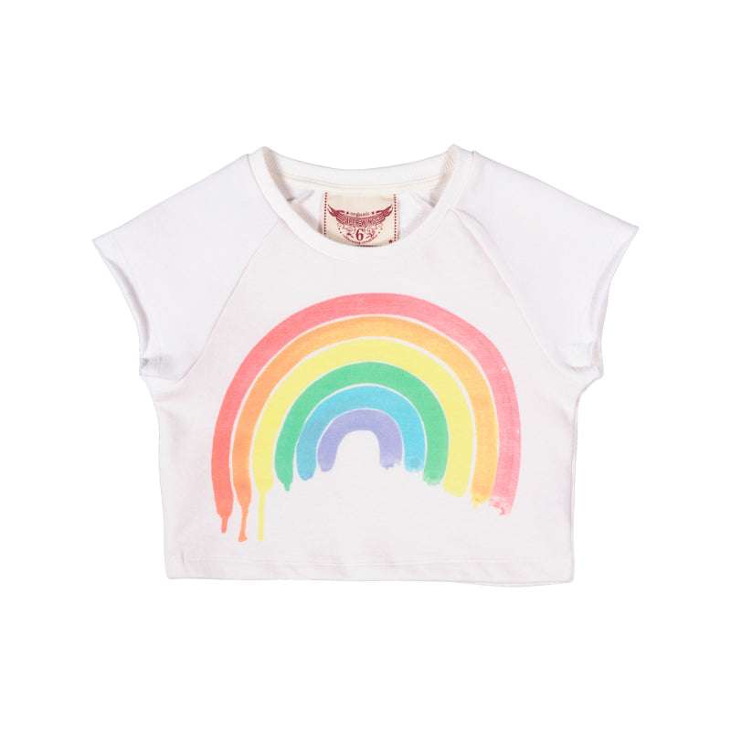 Paper Wings - Cropped Sweater - Rainbow