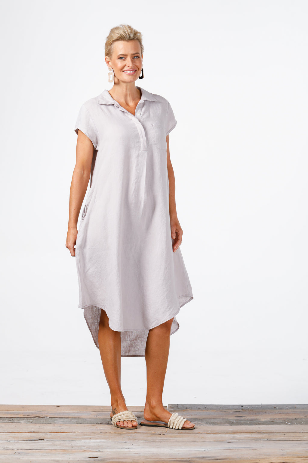 Holiday - Ahoy Tunic Grey Linen