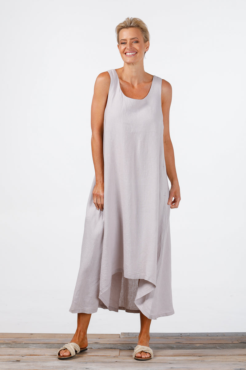 Holiday - Launch Dress Grey Linen