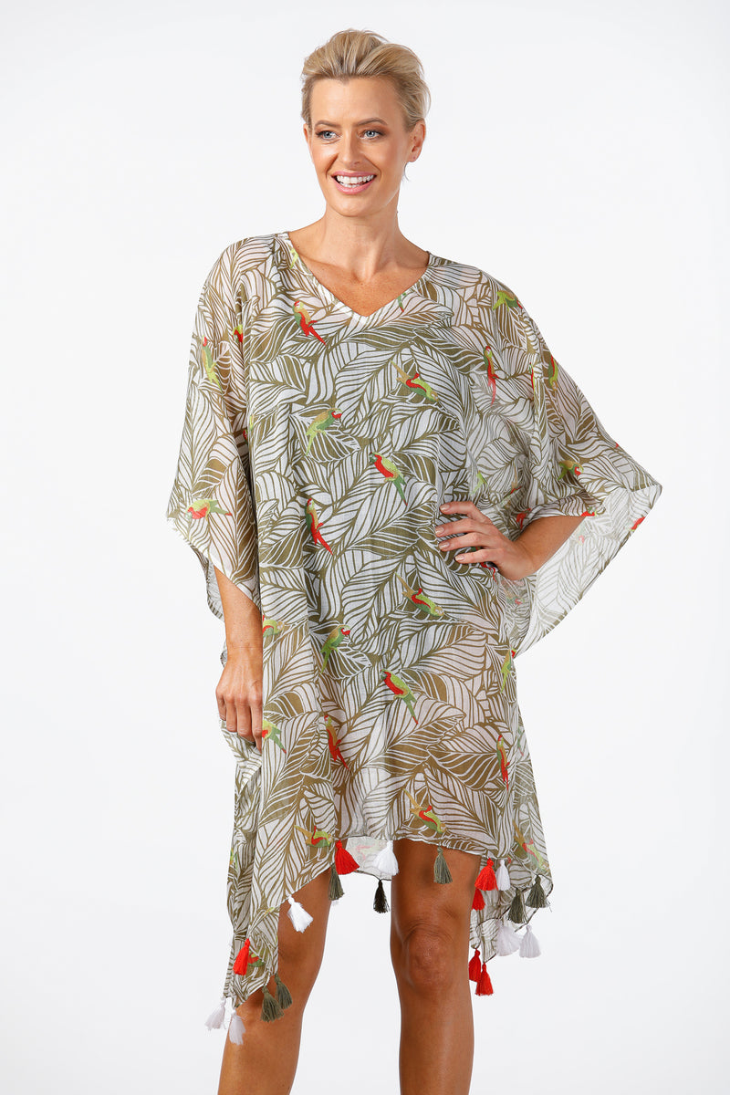 Holiday - Parrot Kaftan