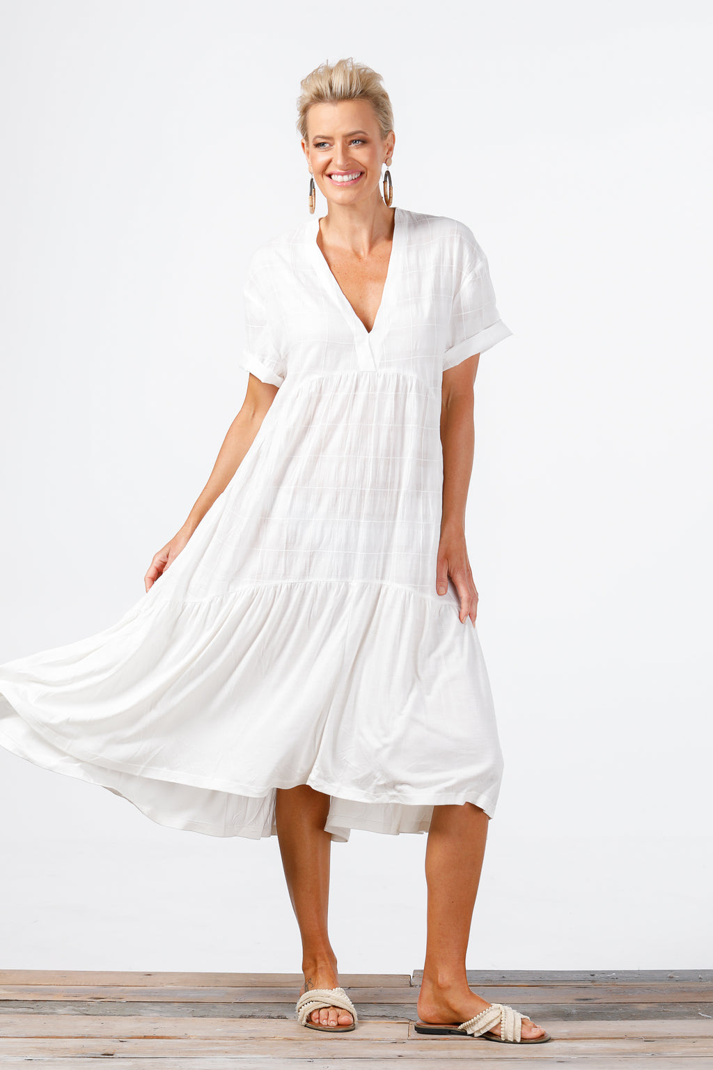Holiday - Sunshine Dress - White