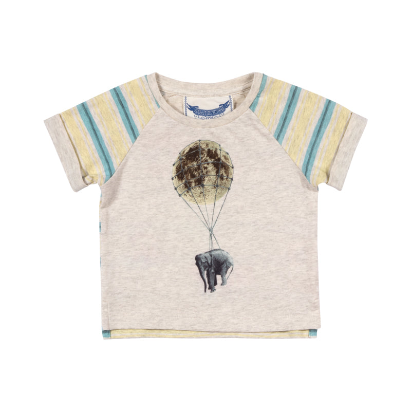 Little Wings By Paper Wings - Raglan Cuff T-shirt - The Moon And Back