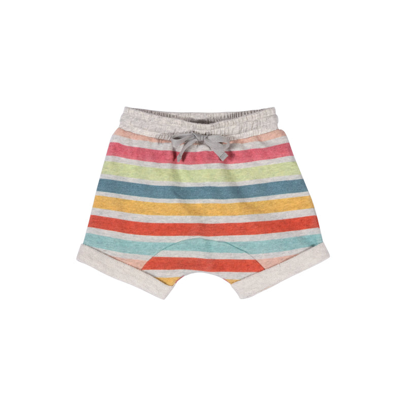 Little Wings by Paper Wings - Short Trackie Shorts - Coloured Stripe