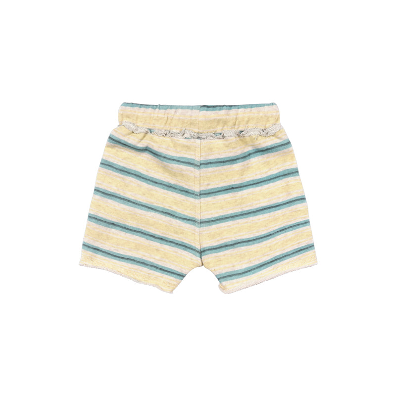 Little Wings by Paper Wings - Front Pocket Trackie Shorts - Texta Stripe