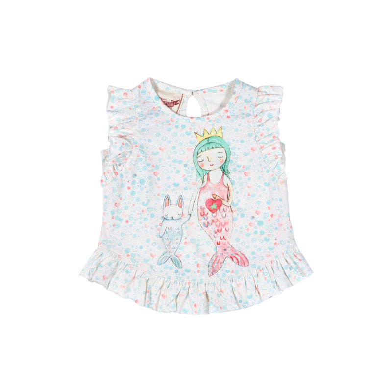 Little Wings by Paper Wings - Frilled Tank - Little Mermaid