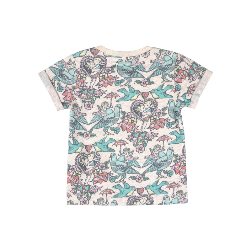 Little Wings by Paper Wings - Tee with Cuffs - Little Wings for Ever