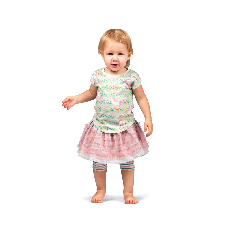 Little Wings by Paper Wings - Classic Tank - Unicorn Flower Stripe