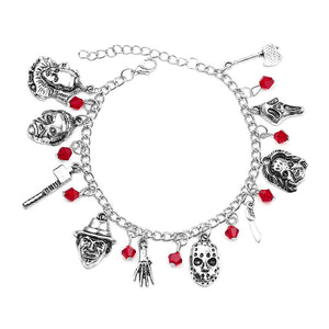 Horror Movie Legends Charm Bracelet - The Discount Studio