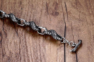 Dragon Link Stainless Steel Bracelet - The Discount Studio