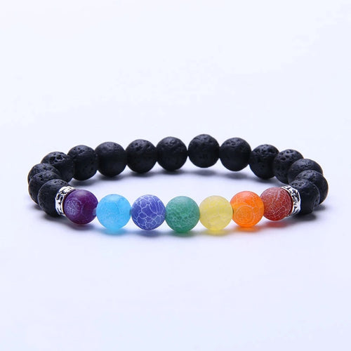 7 Chakra and Natural Stone Bracelet - The Discount Studio