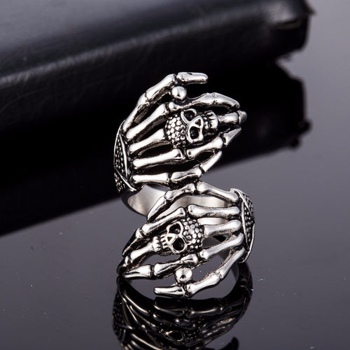 Skeleton Skull Ring - The Discount Studio