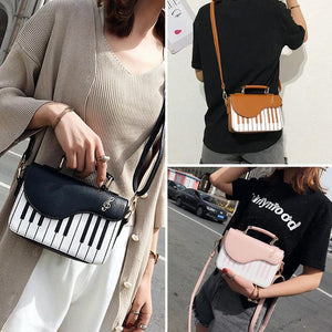 Piano Leather Handbag - The Discount Studio