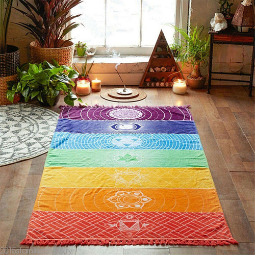 7 Chakras Meditation Carpet