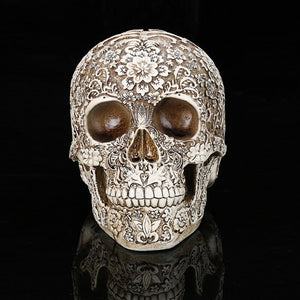 Artistic  Skull Ornament - The Discount Studio