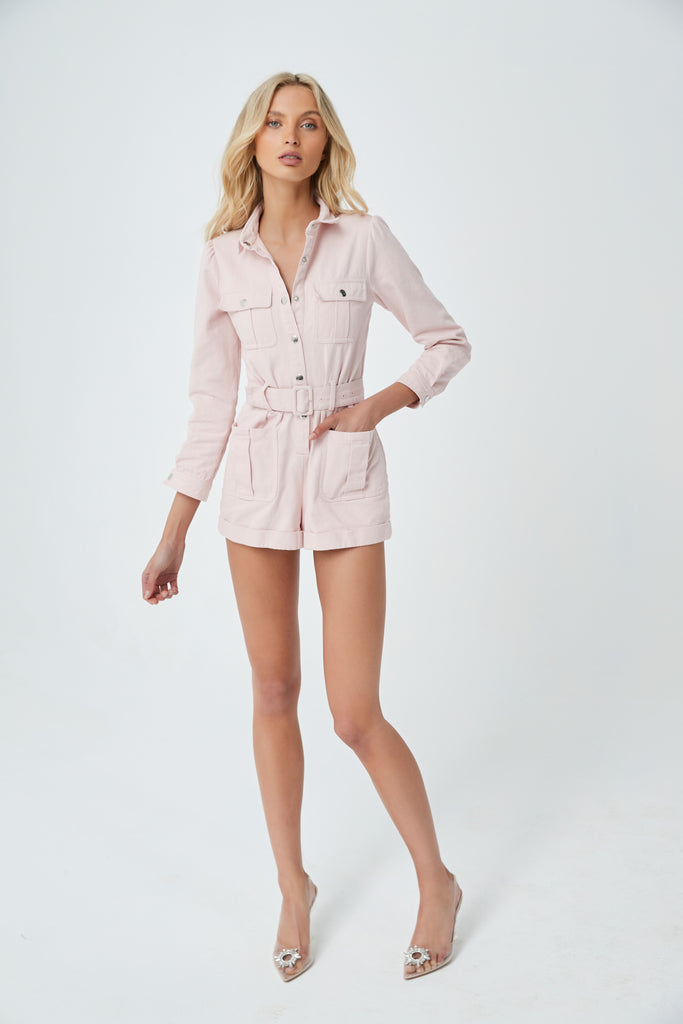 PINK TIDE PLAYSUIT