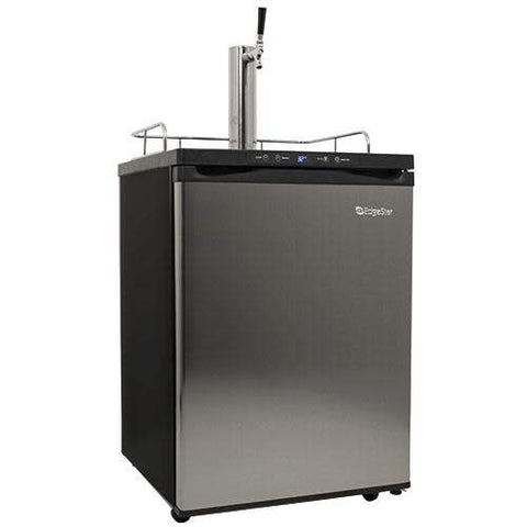 EdgeStar KC3000SS Full Size Kegerator with Digital Display - Black and Stainless Steel