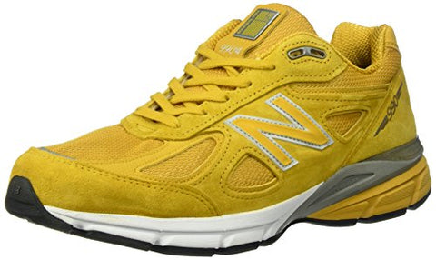 New Balance Men's 990V4 Running-Shoes, Quake/Mustard, 10.5 D US