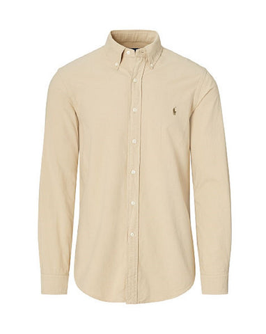 Polo Ralph Lauren Men's Long Sleeve Oxford Button Down Shirt-SoftAlmond-XL