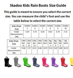SkaDoo Blue with Black Sole Big Kids Rain Boots 4 M US Big Kid