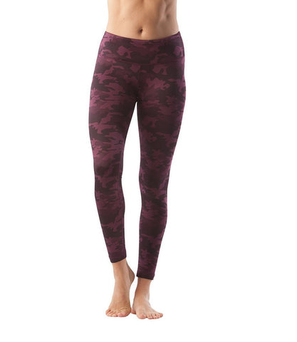 90 Degree By Reflex - Performance Activewear - Printed Yoga Leggings - Camo Merlot - Medium