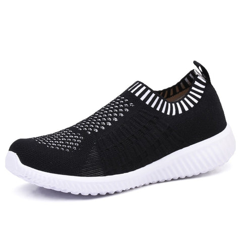 TIOSEBON Women's Athletic Walking Shoes Casual Mesh-Comfortable Work Sneakers 8.5 US Black