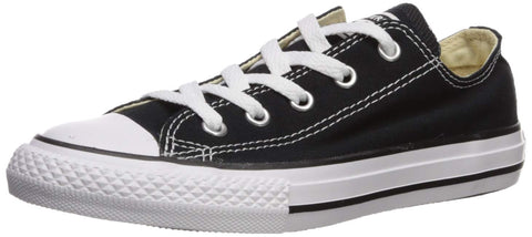 Converse unisex-child Chuck Taylor All Star  Low Top Sneaker, black, 7 M US Toddler
