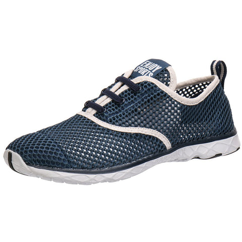 ALEADER Men's Quick Drying Aqua Water Shoes Blue 7 D(M) US