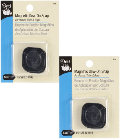Dritz Magnetic Snaps-Square Sew-In (2 Pack)
