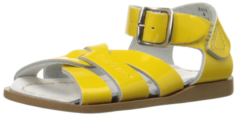 Salt Water Sandals by Hoy Shoe Original Sandal (Toddler/Little Kid/Big Kid/Women's), Shiny Yellow, 3 M US Infant