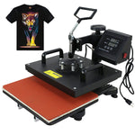 F2C Pro 6 in 1 Combo Heat Press Machine T-Shirt Hat Cap Mug Plate Digital Transfer Sublimation Machine (6 in 1 Swing Away)