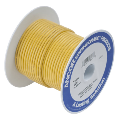 Ancor 112975 Marine Grade Electrical Tinned Copper Battery Cable (6-Gauge, Yellow, 800-Feet)