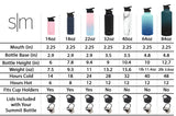 Simple Modern 22 Ounce Summit Water Bottle - Stainless Steel Tumbler Metal Flask +2 Lids - Wide Mouth Double Wall Vacuum Insulated Black Leakproof - Midnight Black