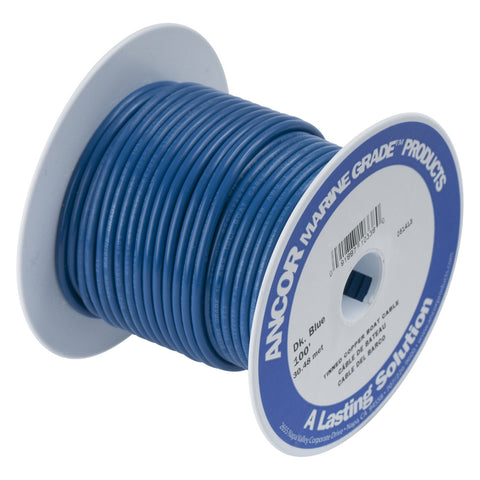 Ancor 100199 Marine Grade Electrical Primary Tinned Copper Boat Wiring (18-Gauge, Dark Blue, 1000-Feet)