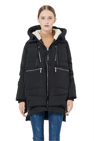 Orolay Women's Thickened Down Jacket Black S
