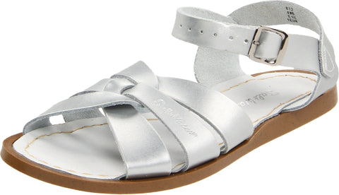 Salt Water Sandals by Hoy Shoe Original Sandal (Toddler/Little Kid/Big Kid/Women's), Silver, 7 M US Toddler