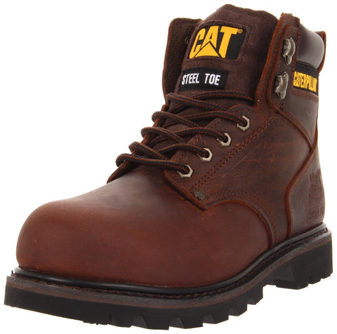 Caterpillar Men's Second Shift Steel Toe Work Boot,Dark Brown,11.5 M US