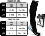 Physix Gear Compression Socks for Men & Women 20-30 mmhg, Best Graduated Athletic Fit for Running Nurses Shin Splints Flight Travel & Maternity Pregnancy - Boost Stamina Circulation & Recovery GRY S/M