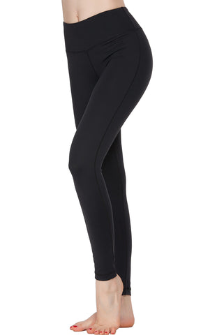 Oalka Women Power Flex Yoga Pants Workout Running Leggings Black M
