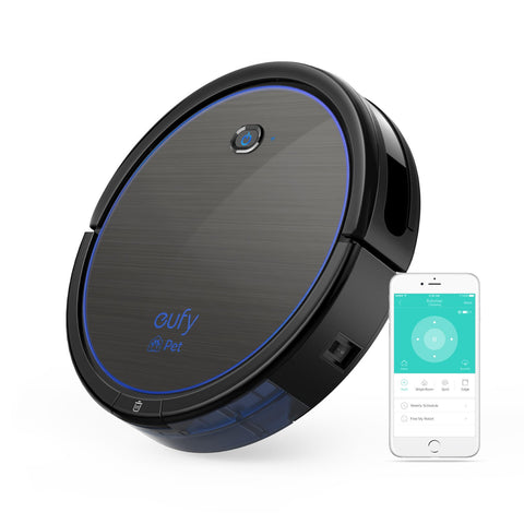 eufy [BoostIQTM] RoboVac 11c Pet Edition, Wi-Fi Connected, 1200Pa (Max) High Suction, 3-Point Cleaning System, Self-Charging Robotic Vacuum Cleaner, Cleans Hard Floors to Medium-Pile Carpets