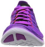 Nike Women's Free Running Motion Flyknit Shoes, Hyper Violet/Total Crimson/Laser Orange/Black - 8 B(M) US