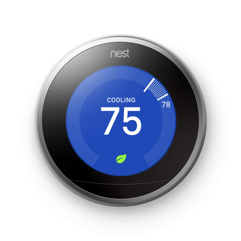Nest (T3007ES) Learning Thermostat, Easy Temperature Control for Every Room in Your House, Stainless Steel (Third Generation), Works with Alexa
